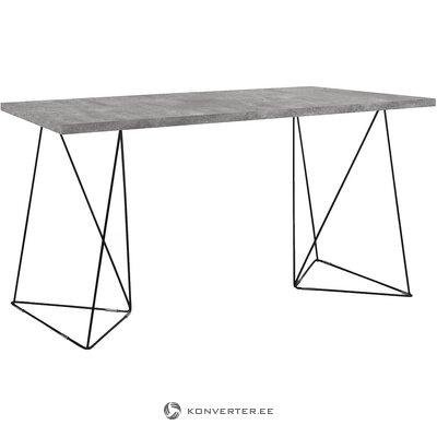 Mustaharmaa työpöytä (temahome) (laatikossa, koko)