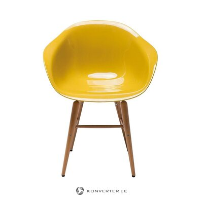 Yellow design chair (rough design) (with beauty defects, hall sample)
