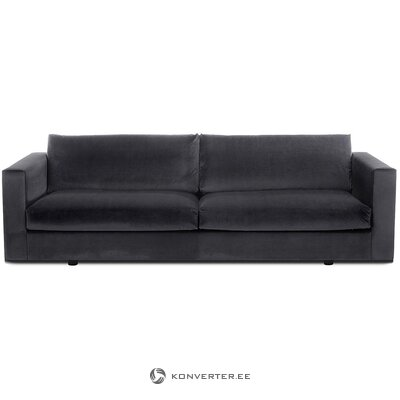 Dark gray velvet sofa (balmira) (whole, in box)