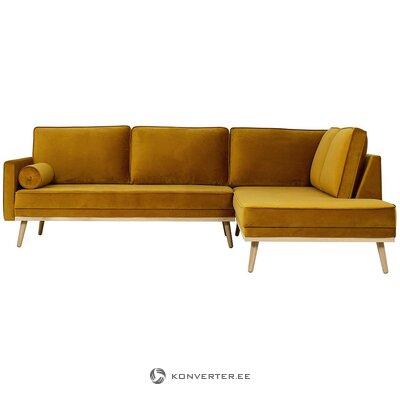 Velvet corner sofa (saint)