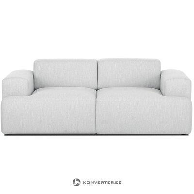 Šviesiai pilka minkšta sofa (zefyras)