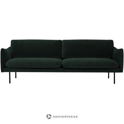 Tamsiai žalia aksominė sofa (moby)