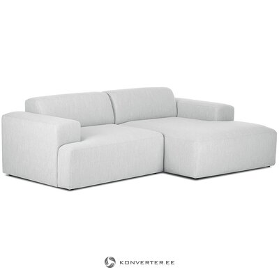 Light gray corner sofa (marshmallow) (with beauty defects., Hall sample)