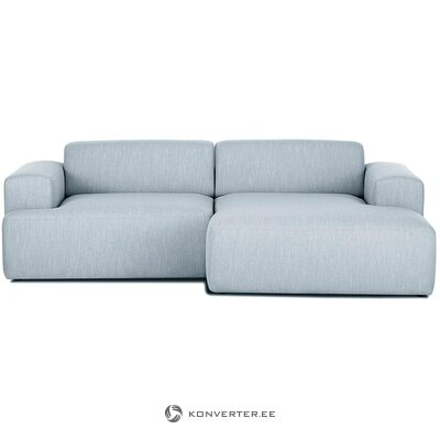 Blue-gray corner sofa (marshmallow) (hall sample, whole)