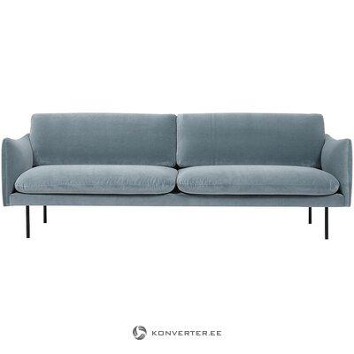 Turquoise velvet sofa (moby) (corrected, hall sample)
