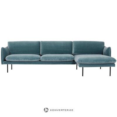 Turkio aksominė kampinė sofa (moby)