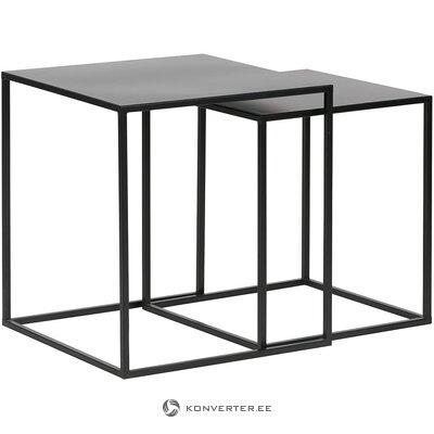 Musta metalli sohvapöytä (woood)