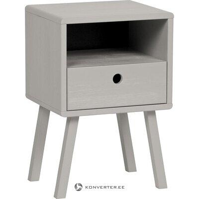 Gray bedside table (sammie) (whole, in a box)