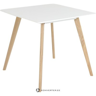 White-brown small dining table (zago) (defective, in a box)