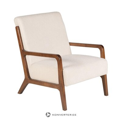 Creamy armchair (zago) (with beauty defects., Hall sample)