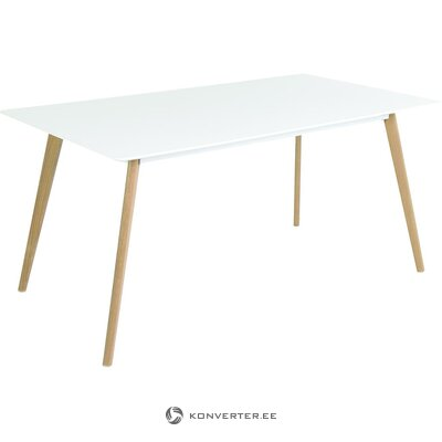 White-brown dining table (zago) (boxed, whole)