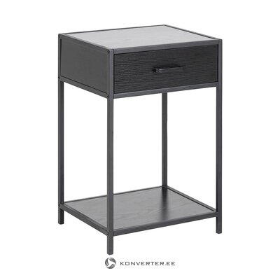 Black bedside table (actona) (whole, hall sample)