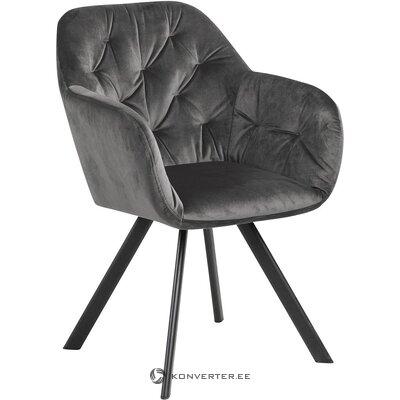 Pelēks samta krēsls (actona) (zāles paraugs nelieli trūkumi)