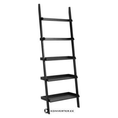 Black ladder shelf wally (actona) (with defects., In a box)