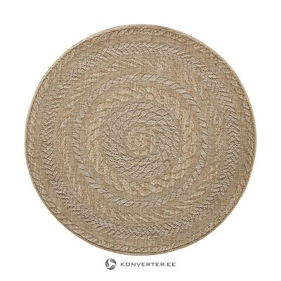 Beige-brown round carpet (bougari) (whole, in a box)
