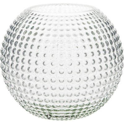 Round glass flower vase (eightmood) (in box, whole)