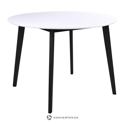 White-black dining table (house nordic) (with beauty defects., Hall sample)