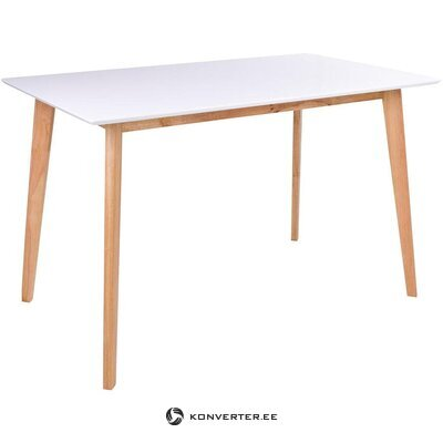 White-brown dining table (vojensi)