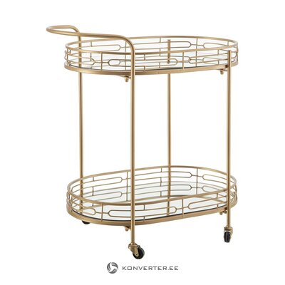 Gold serving trolley (ixia) (with defects., Hall sample)