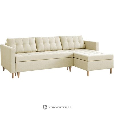 Beige corner sofa bed (nordified) (in box, whole)