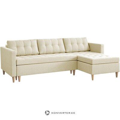 Smėlio spalvos kampinė miegamoji sofa (šiaurinė) (dėžutė, visa)