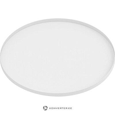 Valkoinen pyöreä tarjotin (nykyinen aika) (kokonainen, laatikossa)
