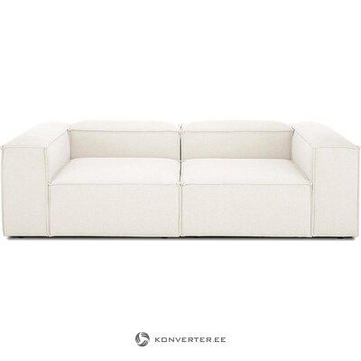 Valkoinen-beige sohva (lento) (kokonainen, näyte)