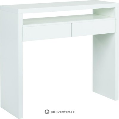 White narrow desk (woodman) (with beauty defects., Hall sample)