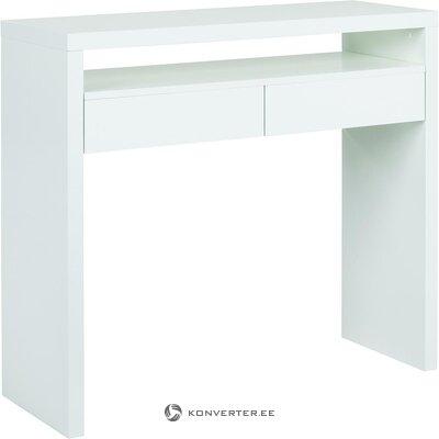 White narrow desk (woodman) (in box, whole)