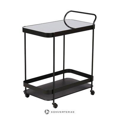 Black serving trolley (zago) (in box, whole)