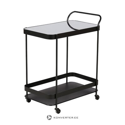 Black serving trolley (zago) (hall sample, whole)