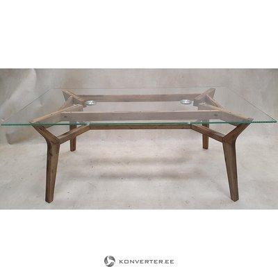 Grūdinto stiklo pietų stalas