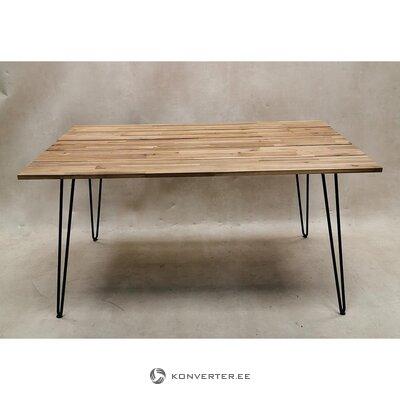Садовый стол из коричневой акации (с недостатками красоты, образец зала)