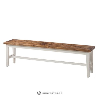 Brown-white solid wood bench (balignton) (whole, specimen hall)