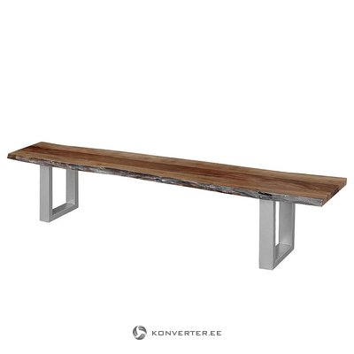 Wide bench of acacia wood (dill) (in box, whole)