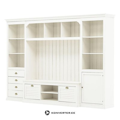 Large white cupboard with tv stand (sollerön)