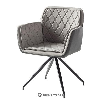 Gray chair with soft armrests