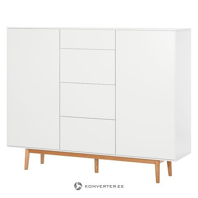 White chest of drawers / wardrobe (lindholm) (with severe beauty errors)