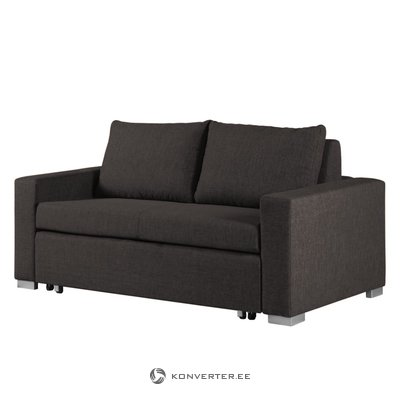 Dark gray sofa bed (width 190 cm) (latina) (beauty flaws, hall sample)