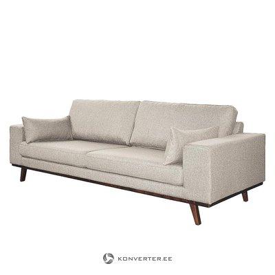 Beige design-sohva (kauneusvirheillä, hallinäyte)