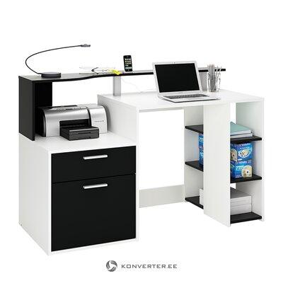 Бело-черный письменный стол (Марсель)