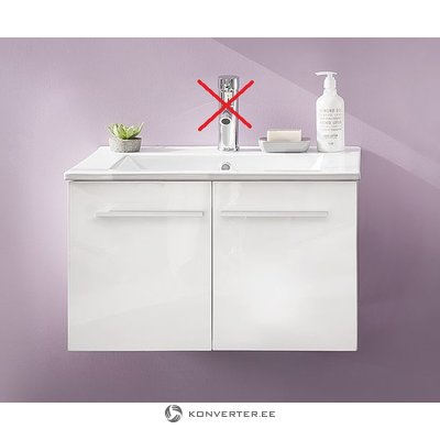 White sink cabinet (with sink) (whole, in box)