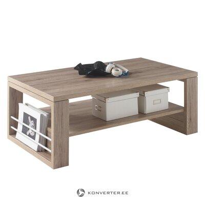 Ruskea sohvapöytä (isabella) (laatikossa, kauneusvikoilla)