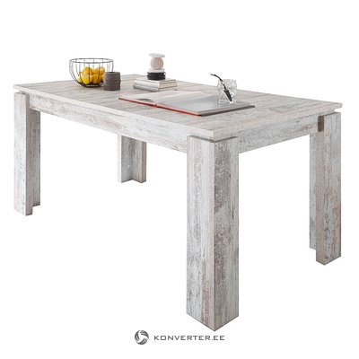 Light brown expandable dining table (river) (in box, with beauty defects)