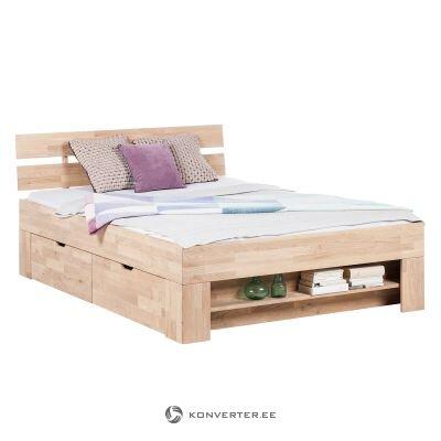 Šviesiai rudas ąžuolo lova (140x200) (eoswood) (visa, dėžutėje)