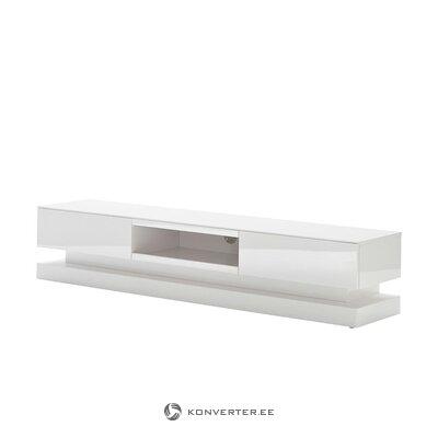 Белая подставка под телевизор (Фабриано)