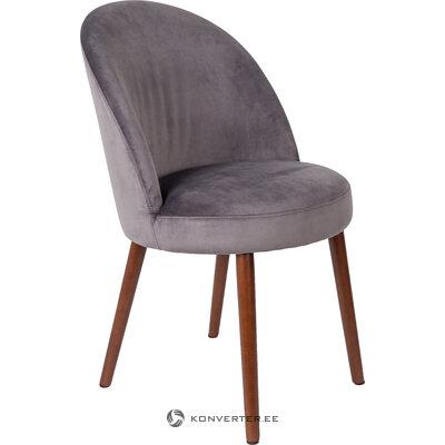 Harmaa samettinen tuoli barbara (hollantilainen) (kauneusvirheillä hallinäyte)