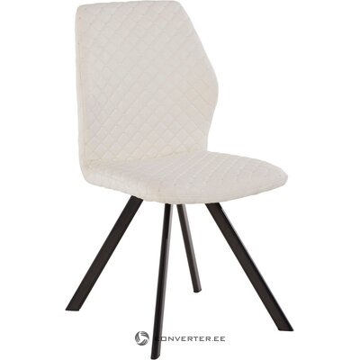 White leather upholstered chair (isobel)