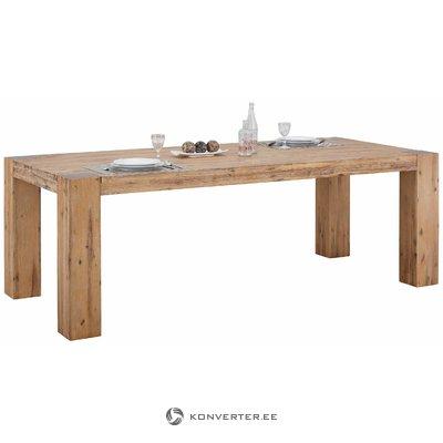 Suuri puupohjainen ruokapöytä