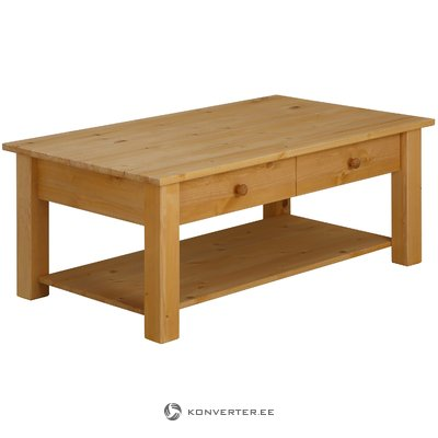 Solid wood Brown Coffe table 1 Drawer
